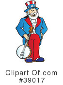 Royalty-Free (RF) Uncle Sam Clipart Illustration #39017