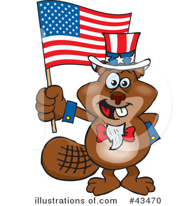 Beaver Clipart #43470 by Dennis Holmes Designs