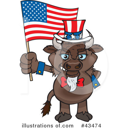 Bison Clipart #43474 by Dennis Holmes Designs