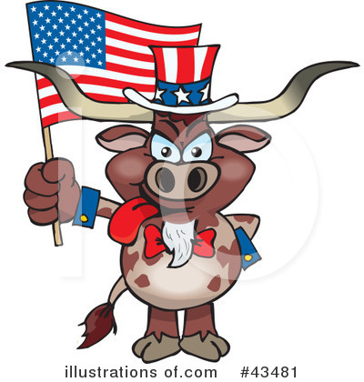 Bull Clipart #43481 by Dennis Holmes Designs