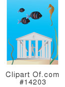 Royalty-Free (RF) Underwater Clipart Illustration #14203