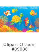 Royalty-Free (RF) Underwater Clipart Illustration #39038