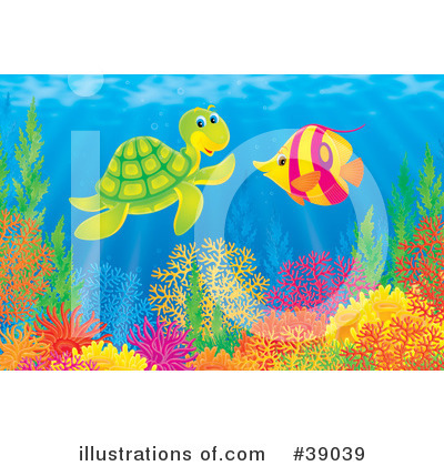 Sea Turtle Clipart #39039 by Alex Bannykh