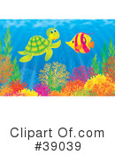 Royalty-Free (RF) Underwater Clipart Illustration #39039
