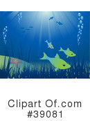 Royalty-Free (RF) Underwater Clipart Illustration #39081