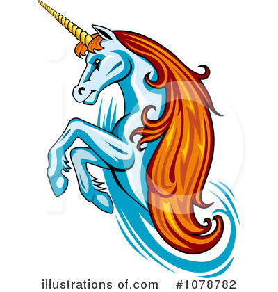 Unicorn Clipart #1078782 by Vector Tradition SM