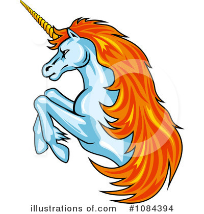 Unicorn Clipart #1084394 by Vector Tradition SM
