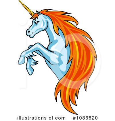 Unicorn Clipart #1086820 by Vector Tradition SM