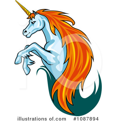 Unicorn Clipart #1087894 by Vector Tradition SM