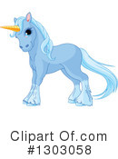 Royalty-Free (RF) Unicorn Clipart Illustration #1303058