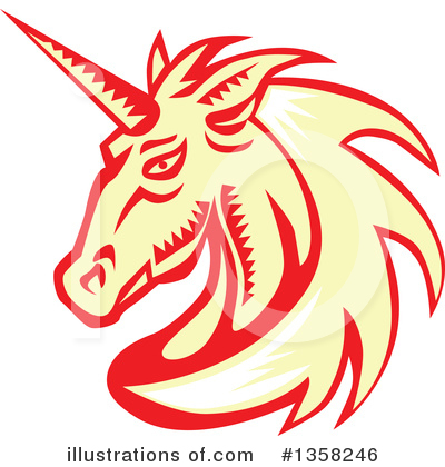 Royalty-Free (RF) Unicorn Clipart Illustration by patrimonio - Stock Sample #1358246