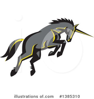 Unicorn Clipart #1385310 by patrimonio