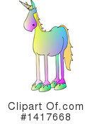 Royalty-Free (RF) Unicorn Clipart Illustration #1417668