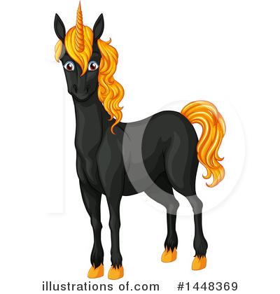 Royalty-Free (RF) Unicorn Clipart Illustration by Graphics RF - Stock Sample #1448369