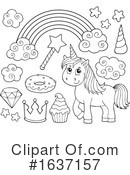 Unicorn Clipart #1637157 by visekart