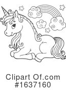 Unicorn Clipart #1637160 by visekart