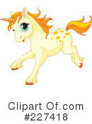Royalty-Free (RF) Unicorn Clipart Illustration #227418