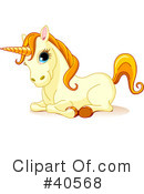 Royalty-Free (RF) Unicorn Clipart Illustration #40568