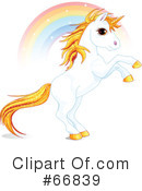 Royalty-Free (RF) Unicorn Clipart Illustration #66839