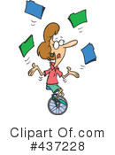 Unicycle Clipart #437228 by toonaday