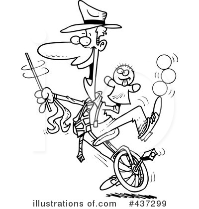 Royalty-Free (RF) Unicycle Clipart Illustration by Ron Leishman - Stock