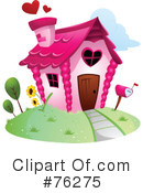 Royalty-Free (RF) Unique House Clipart Illustration #76275