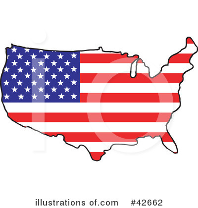 Royalty-Free (RF) United States Clipart Illustration by Dennis Holmes Designs - Stock Sample #42662