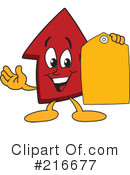 Up Arrow Mascot Clipart #216677 by Toons4Biz