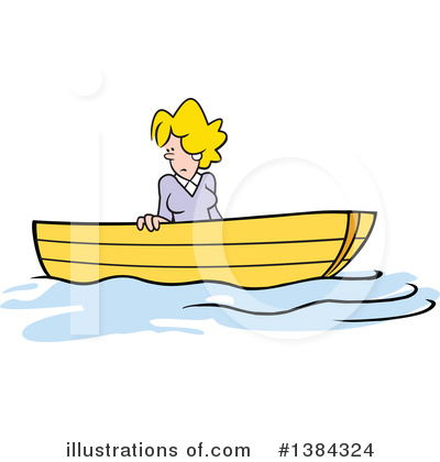 Up The Creek Without A Paddle Clipart #1384324 by Johnny Sajem