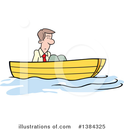 Up The Creek Without A Paddle Clipart #1384325 by Johnny Sajem