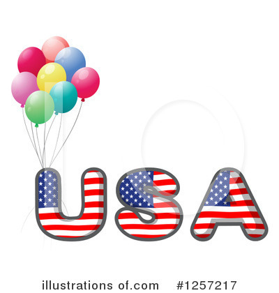 American Flag Clipart #1257217 by Graphics RF