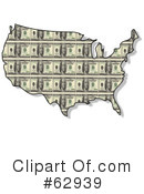 Royalty-Free (RF) Usa Map Clipart Illustration #62939