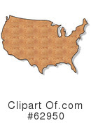 Royalty-Free (RF) Usa Map Clipart Illustration #62950