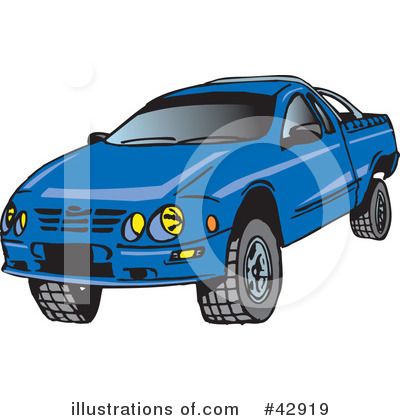 Pickup Clipart #42919 by Dennis Holmes Designs