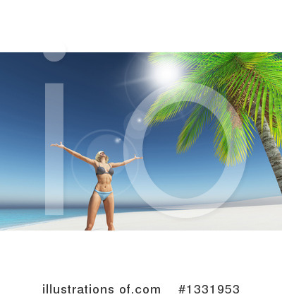 Beach Clipart #1331953 by KJ Pargeter