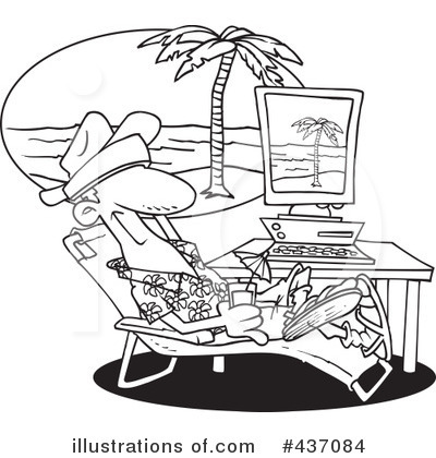 Royalty Free RF Vacation Clipart Illustration 437084 By Toonaday