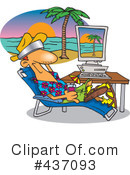 Royalty-Free (RF) Vacation Clipart Illustration #437093