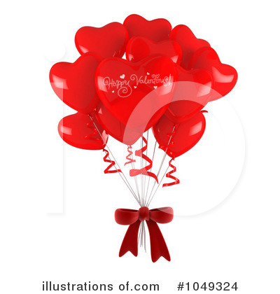 Party Balloons Clipart #1049324 by BNP Design Studio