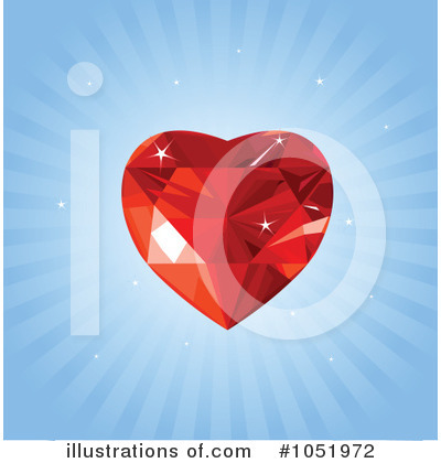 Ruby Heart Clipart #1051972 by Pushkin