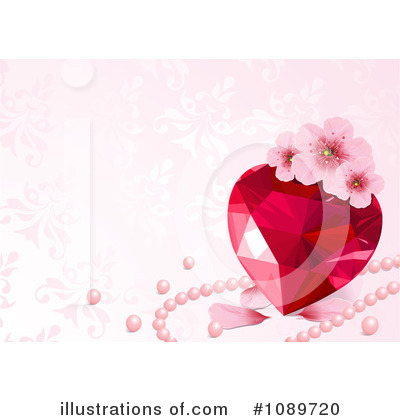Ruby Heart Clipart #1089720 by Pushkin