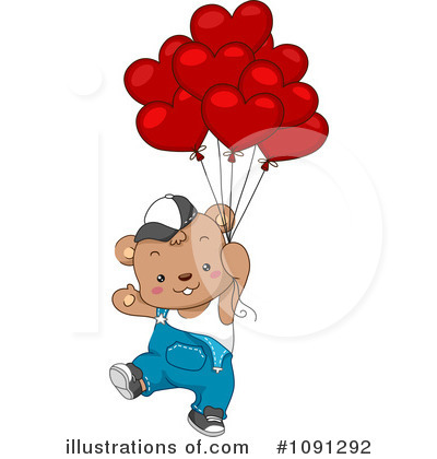 Party Balloons Clipart #1091292 by BNP Design Studio