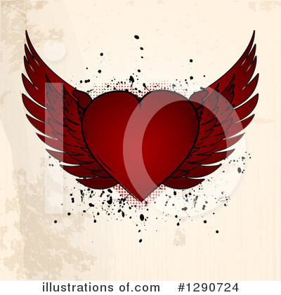 Winged Heart Clipart #1290724 by elaineitalia