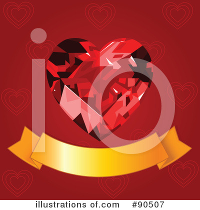 Ruby Heart Clipart #90507 by Pushkin