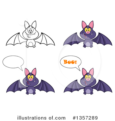 Flying Bat Clipart #1357289 by Hit Toon