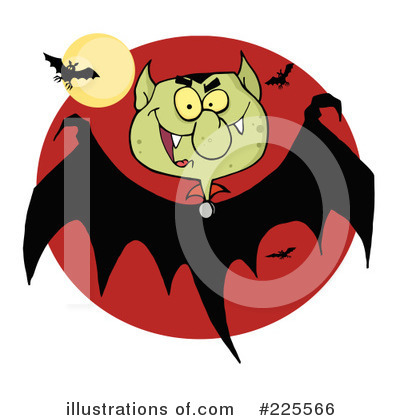 Flying Bat Clipart #225566 by Hit Toon