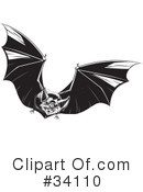 Vampire Bat Clipart #34110 by Lawrence Christmas Illustration