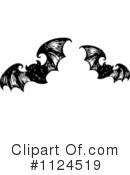 Royalty-Free (RF) Vampire Bats Clipart Illustration #1124519