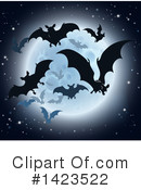 Royalty-Free (RF) Vampire Bats Clipart Illustration #1423522