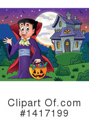 Royalty-Free (RF) Vampire Clipart Illustration #1417199