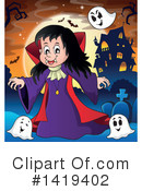 Royalty-Free (RF) Vampire Clipart Illustration #1419402